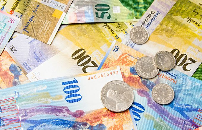 Australian Dollars To Swiss Franc